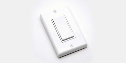 Wireless LED Light Dimming Switch White