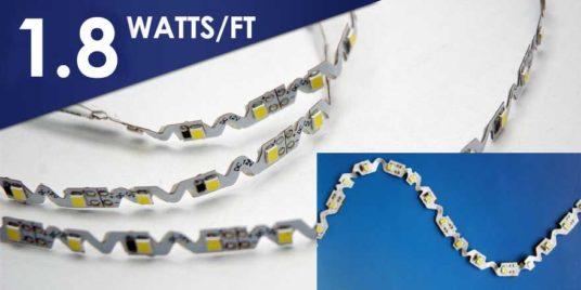 1.8 w/ft zigzag LED strip