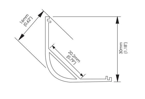 Linear Adjustable Profile dimension