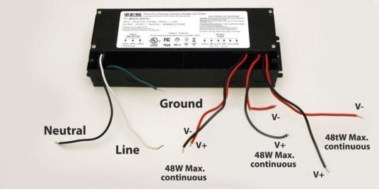 12V 180W driver wiring instructions